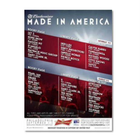 Made In America Festival 2012 Streaming Live Online (Day 2)