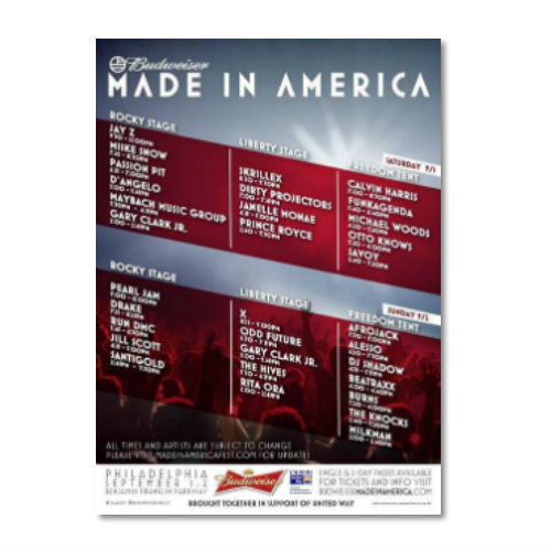 Made In America Festival 2012 Streaming Live Online