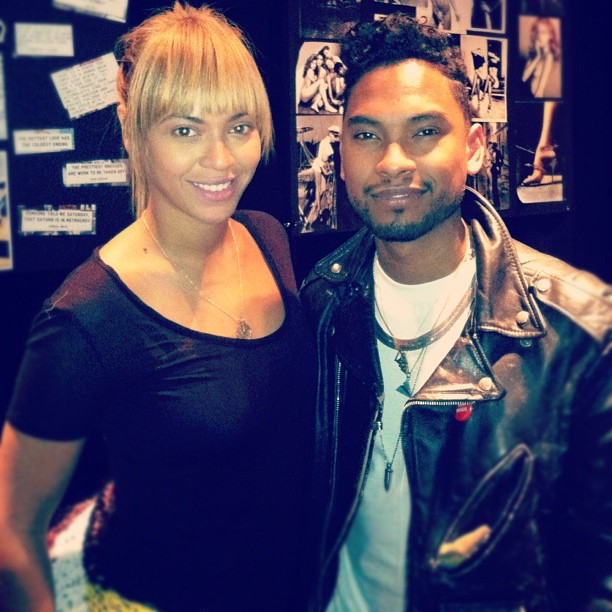Beyoncé In the Studio with Miguel