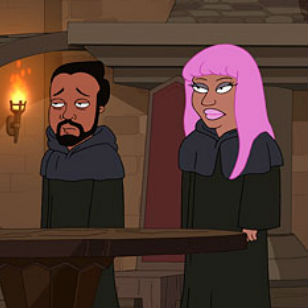 Nicki Minaj, Bruno Mars, will.i.am and ?uestlove Join the Illuminati on 'The Cleveland Show'