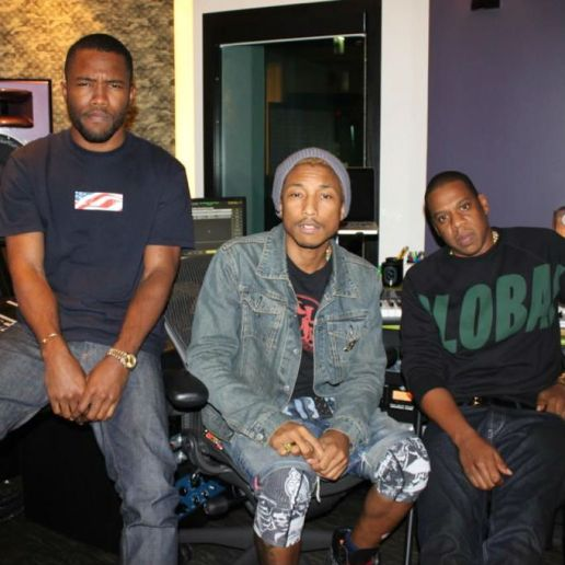 Frank Ocean, Pharrell Williams & Jay-Z in the Studio