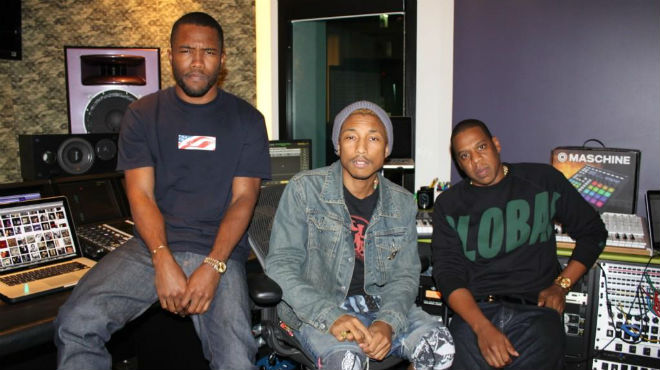 frank ocean pharrell williams jay z in the studio