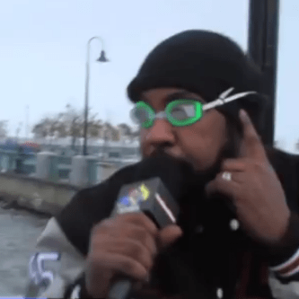 Sean Price Reporting Live From Hurricane Sandy