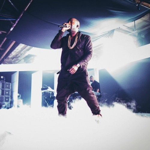 """Kanye Performs """"New God Flow/Mercy"""" at Samsung Galaxy Note II Launch"""
