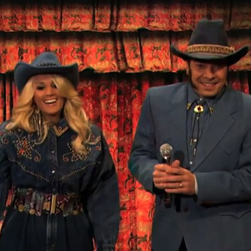 Jimmy Fallon and Carrie Underwood Turn Rap Songs Into Country Hits