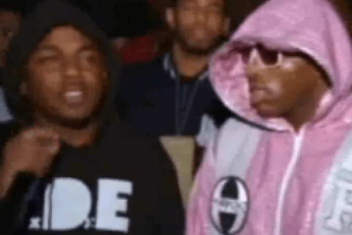 "Kendrick Lamar Performs ""Backseat Freestyle"" During Adrien Broner Boxing Entrance"