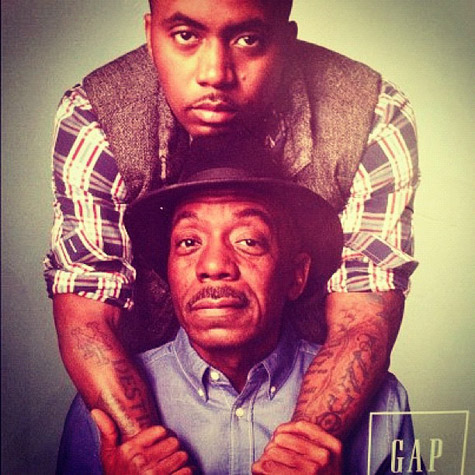 Nas & His Father Olu Dara Featured in Holiday Gap Ad
