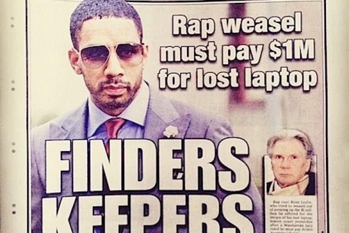 Court Orders Ryan Leslie To Pay $1 Million for Recovered Laptop