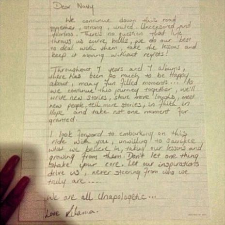 Rihanna Pens 'Unapologetic' Letter to Fans