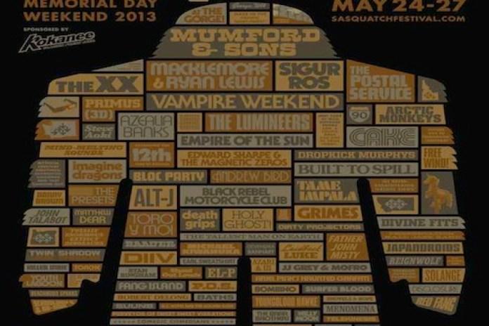 Sasquatch! Music Festival Announces Lineup: Danny Brown, The xx, Earl Sweatshirt, Toro Y Moi, Azealia Banks to Perform
