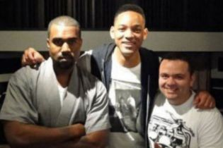 Kanye West & Will Smith In the Studio In Brazil