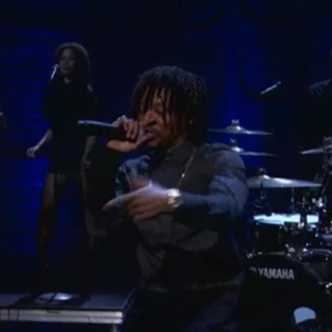 "Lupe Fiasco & Guy Sebastian Perform ""Battle Scars"" on Conan"