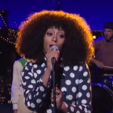Solange Knowles - Don't Let Me Down (Live on Letterman)