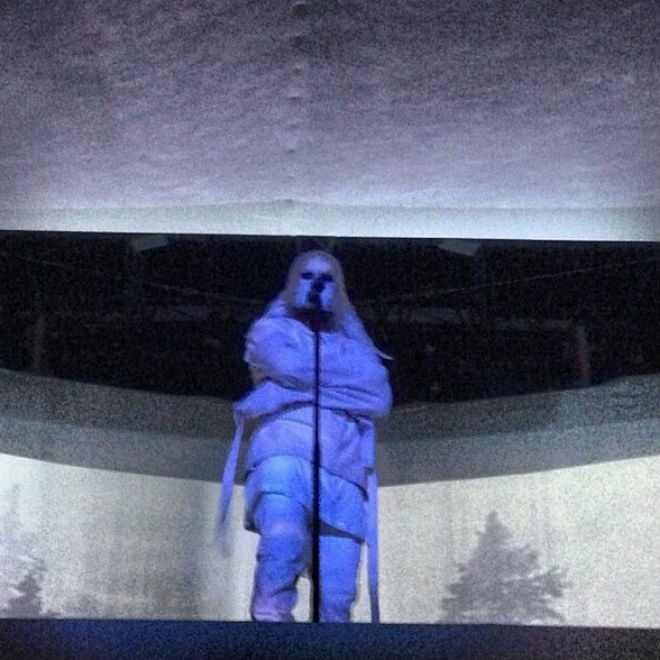 Watch Kanye West's Dramatic Entrance at Abu Dhabi Concert