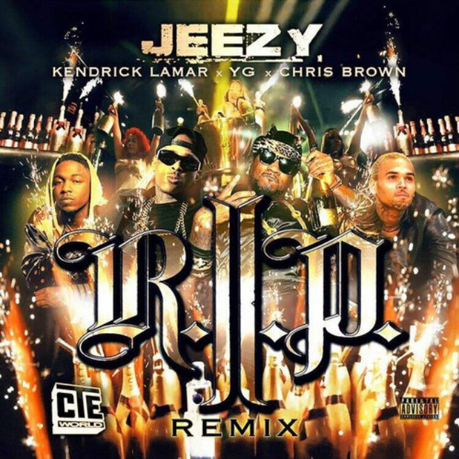 Young Jeezy featuring YG, Kendrick Lamar & Chris Brown – R.I.P. (Remix)