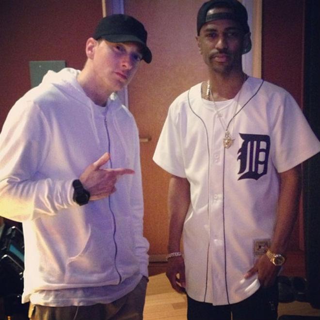 Big Sean Hits the Studio with Eminem