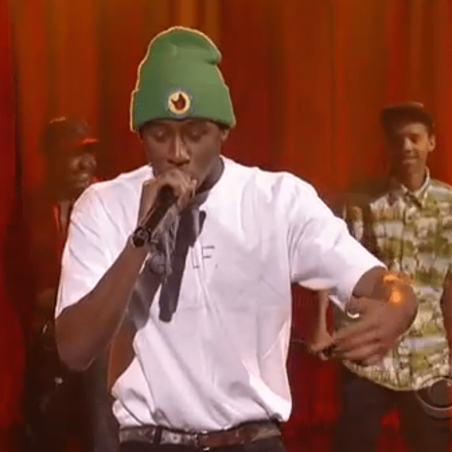 Tyler, the Creator featuring Earl Sweatshirt & Domo Genesis - Rustie (Live on Letterman)