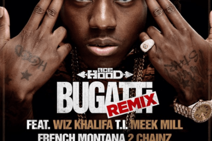 Ace Hood featuring Wiz Khalifa, T.I., Meek Mill, French Montana, 2 Chainz, Future, DJ Khaled & Birdman - Bugatti (Remix)