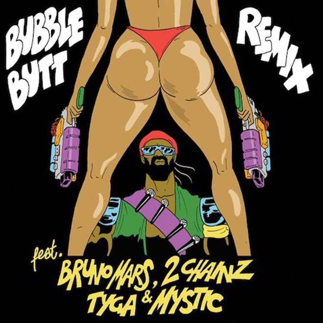 Major Lazer featuring 2 Chainz, Tyga, Bruno Mars & Mystic – Bubble Butt (Remix)