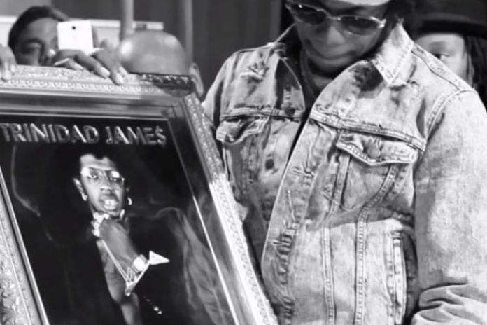 """Trinidad Jame$ Receives Gold Plaque for """"All Gold Everything"""""""