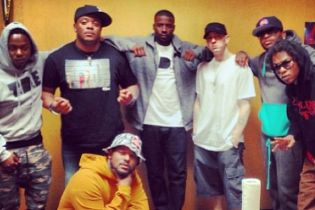 Black Hippy & Eminem Together In the Studio