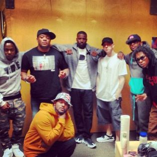 Black Hippy & Eminem Together In the Studio
