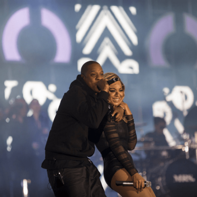 Jay-Z Joins Beyoncé on Stage at 'Chime For Change'