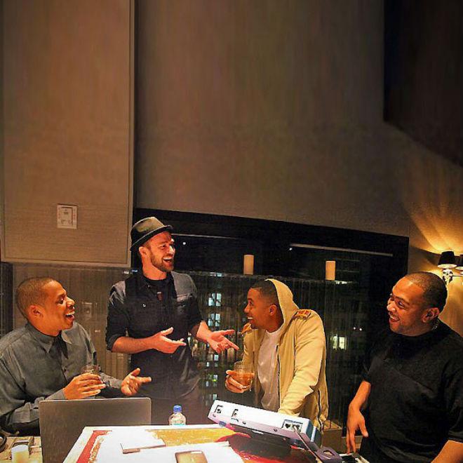 Jay-Z, Nas, Justin Timberlake & Timbaland In The Studio