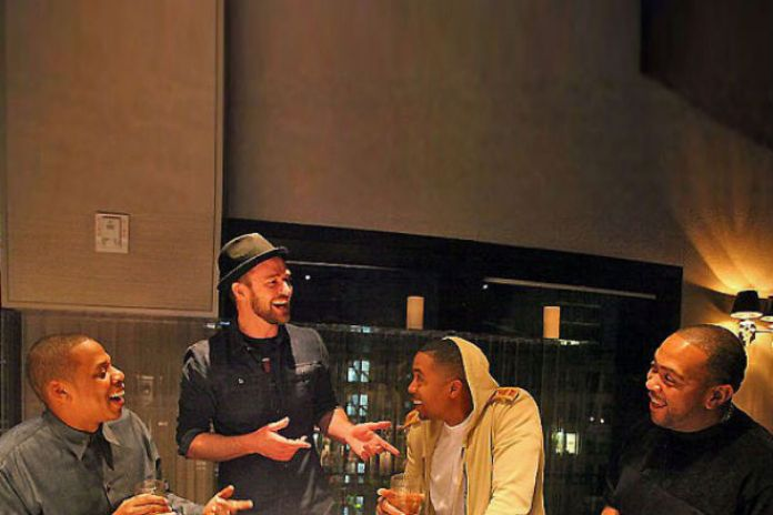 Jay-Z, Nas, Justin Timberlake & Timbaland In The Studio