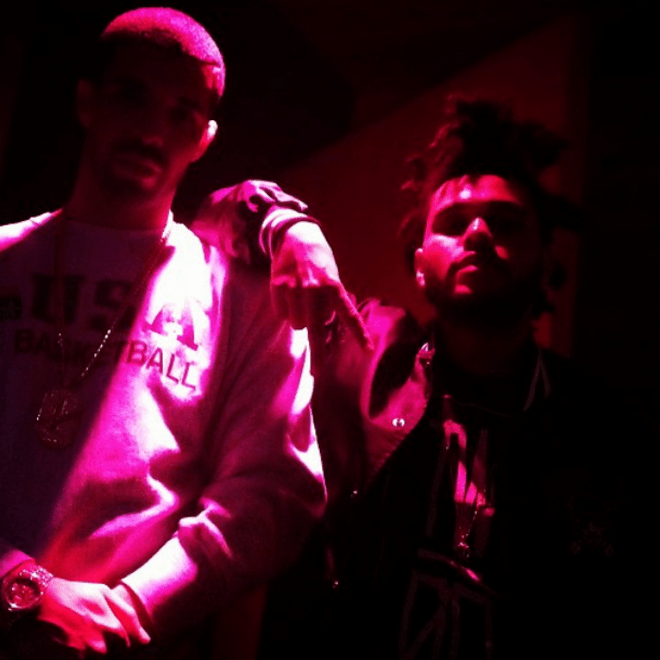 Drake and The Weeknd Link Up in the Studio