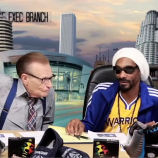 Snoop Lion Teaches Larry King How To Rap