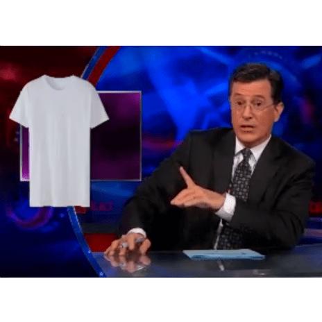 "Stephen Colbert on Kanye West's $120 ""HIP HOP"" T-Shirt"