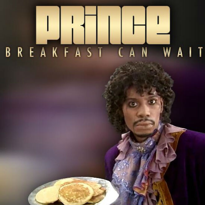 """Prince Shares """"Breakfast Can Wait"""" Cover Art featuring Dave Chappelle"""