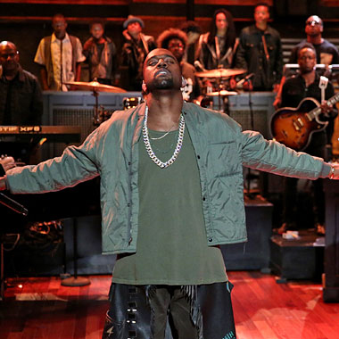 "Kanye West Performs ""Bound 2″ with The Roots and Charlie Wilson on Jimmy Fallon"