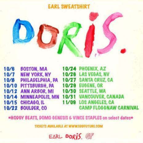 Earl Sweatshirt Announces 'Doris' Tour with Hodgy Beats, Domo Genesis & Vince Staples