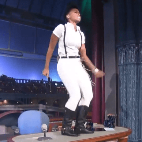 "Janelle Monaé Performs ""Dance Apocalyptic"" on David Letterman's Desk"