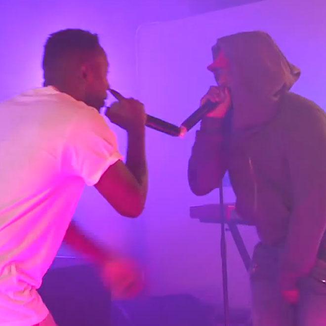 "ScHoolboy Q & Kendrick Lamar Perform ""Collard Greens"" in New York"
