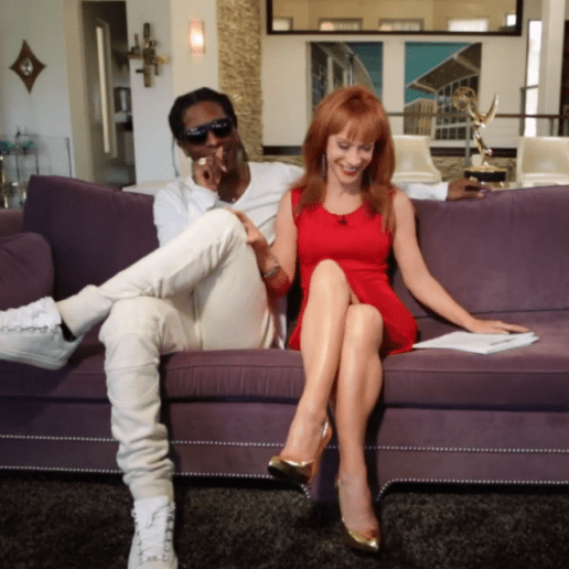 """A$AP Rocky Goes """"Back & Forth' with Kathy Griffin"""