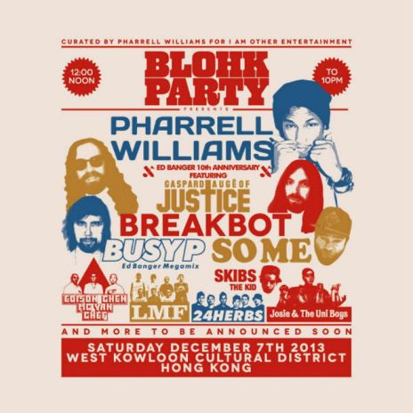 Hong Kong to Host BLOHK Party, Curated by Pharrell Williams