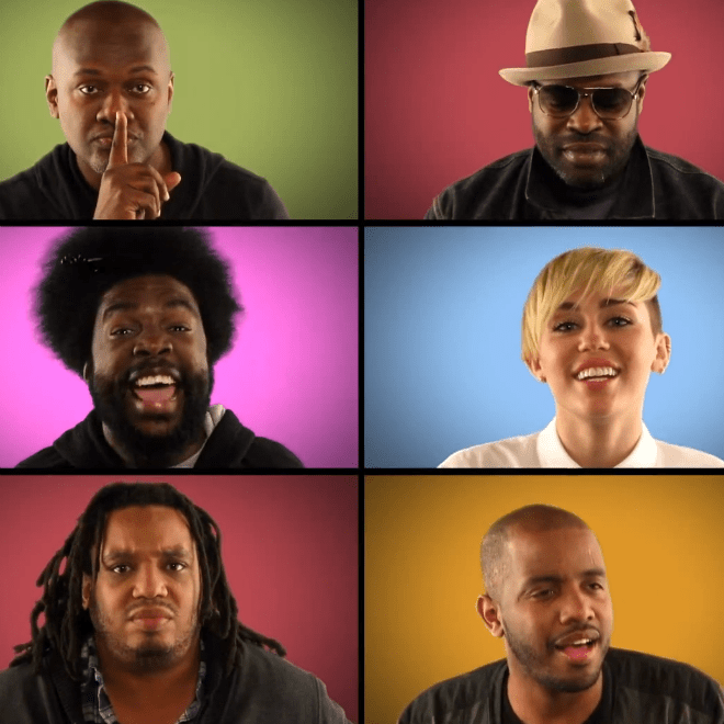 """Miley Cyrus and The Roots Perform """"We Can't Stop"""" Brady Bunch Style on 'Fallon'"""