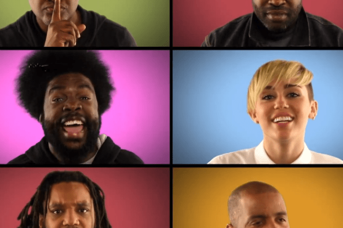 "Miley Cyrus and The Roots Perform ""We Can't Stop"" Brady Bunch Style on 'Fallon'"