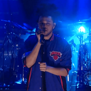 """The Weeknd Performs """"Pretty"""" on The David Letterman Show"""