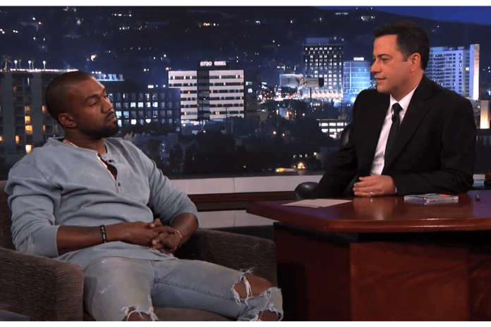 Watch Kanye West on 'Jimmy Kimmel Live'
