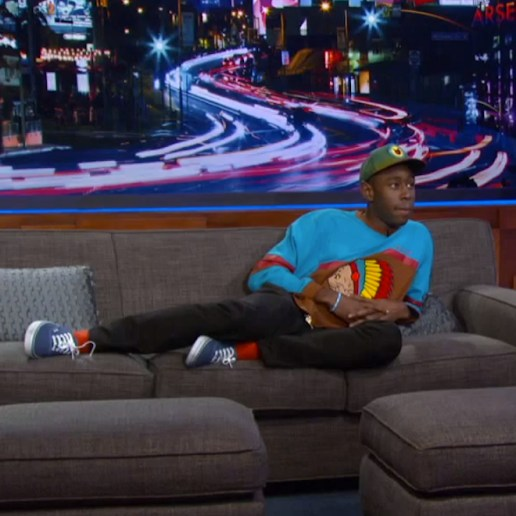 Tyler The Creator Gets Cozy on The Arsenio Hall Show