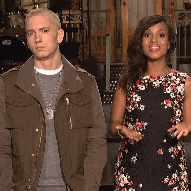 Eminem & Kerry Washington Star in SNL Promo