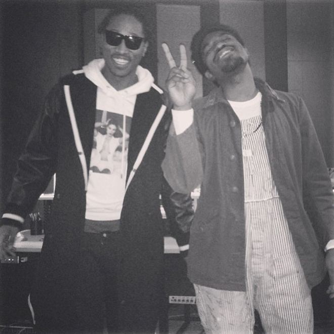 André 3000 and Future Together in the Studio