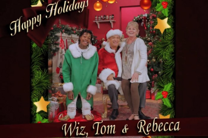 Wiz Khalifa & Tom Hanks Play Santa and Elf on Jimmy Kimmel