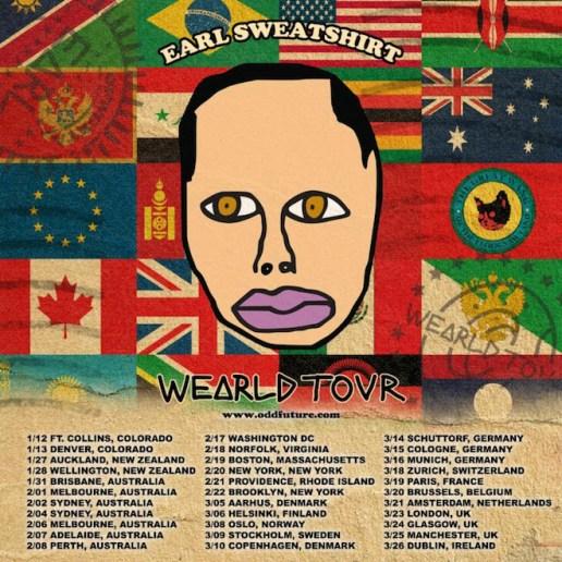 Earl Sweatshirt Annonces 'WEARLD' Tour