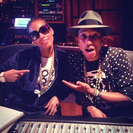 "Alicia Keys Shares Unreleased Track ""Power,"" Hits Studio with Swizz Beats and Pharrell"