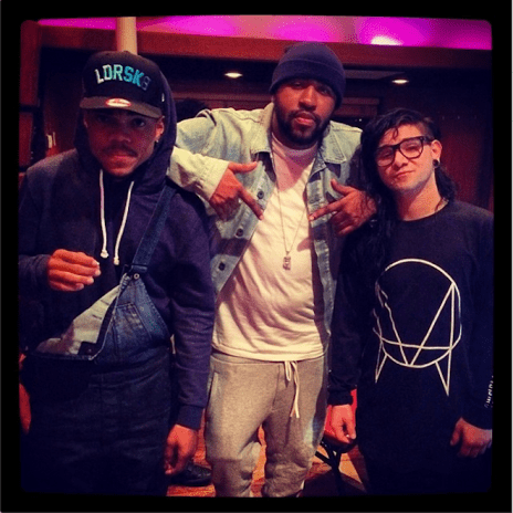 Chance The Rapper, Mike WiLL Made It & Skrillex In The Studio Together